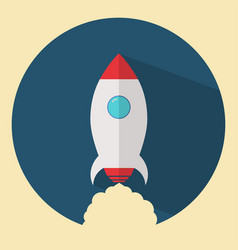 Flat design rocket vector