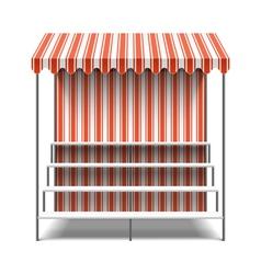 Flower market stall vector image vector image