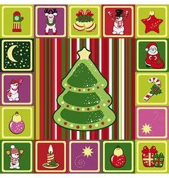 frame christmas pattern vector image vector image