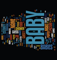 Free baby shower games text background word cloud vector