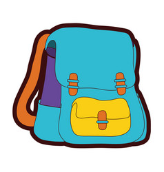 full color school backpack education object design vector image