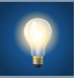 Glowing incandescent bulb - modern vector