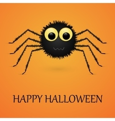 Happy Halloween orange background with spider vector image vector image