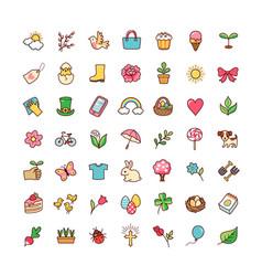 Icons springtime vector