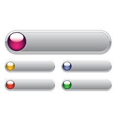 internet glossy buttons vector image vector image