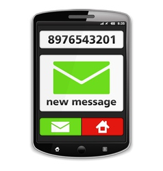 Mobile Phone with SMS vector image vector image