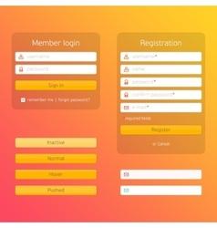 Modern registration and login form vector
