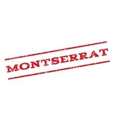 Montserrat watermark stamp vector