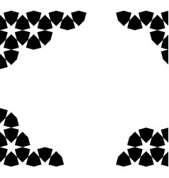 Moroccan mosaic template vector