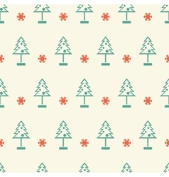 New year and christmas tree winter seamless vector