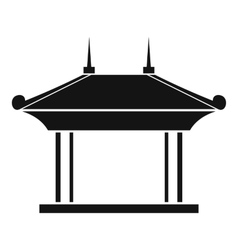 Pagoda icon simple style vector