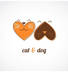 Pets icons - cats and dogs vector image