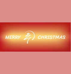 Red abstract merry christmas tree line with circle vector