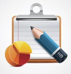 starting analysis icon vector image vector image