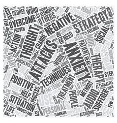 Strategies to overcome anxiety attacks part 2 text vector