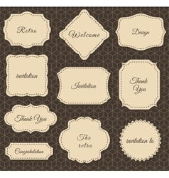 Vintage Frames Dark Background vector image