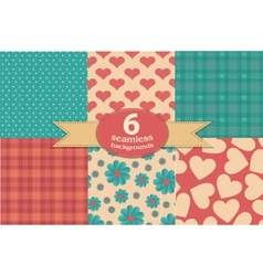vintage seamless backgrounds vector image