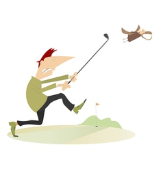Angry golfer vector image