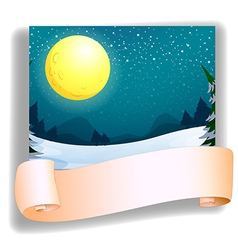 A fullmoon and an empty template vector