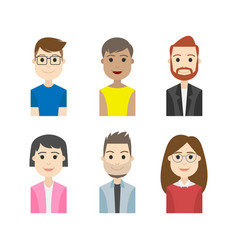 Simple people avatar business character vector