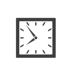 square clock icon isolated on white background vector image