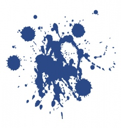 Blue paint blot vector
