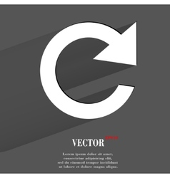 Arrow update flat modern web button with long vector