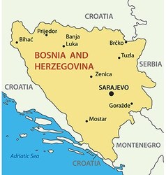 Bosnia and herzegovina - map vector