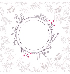 Floral frame with background vector