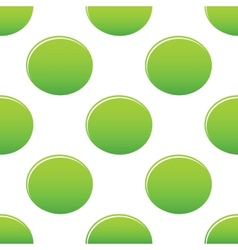 Green oval pattern vector