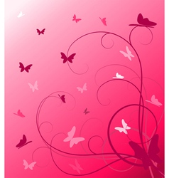 abstract spring floral vector image