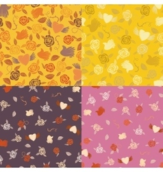 Four seamless patterns vector