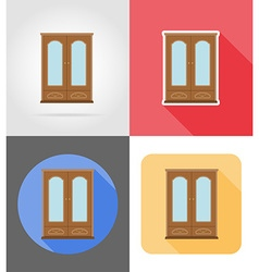 Furniture flat icons 01 vector