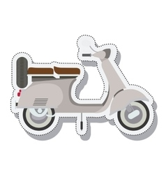 Scooter sticker isolated icon design vector