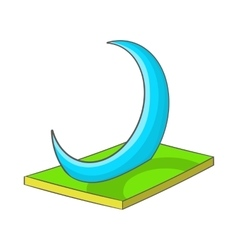 Skyscraper-crescent in uae icon cartoon style vector