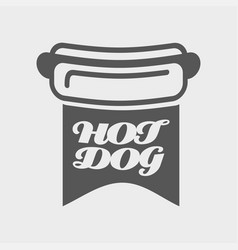 american hot dog bread with vector image