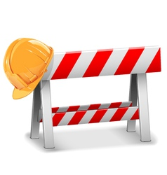 Barrier with Helmet vector image vector image