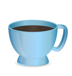 Blank blue photo realistic cup isolated on white vector