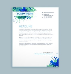 business letterhead abstract design vector image