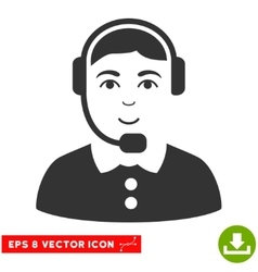 Call center operator eps icon vector
