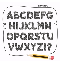Cartoon Doodle Alphabet vector image