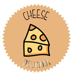 cheese design vector image