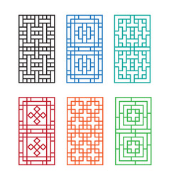chinese ornament for door window wall and fence vector image vector image