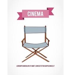 Cinema invitation card vector