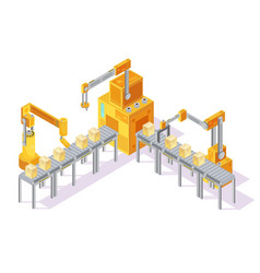 conveyor system isometric vector image vector image