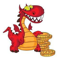 Dragon and money vector