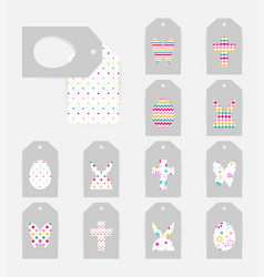Easter gift tags vector