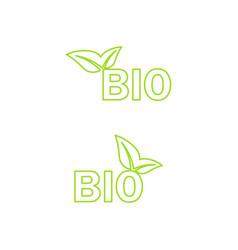 ecology bio icon vector image vector image
