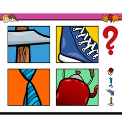 Educational activity with objects vector