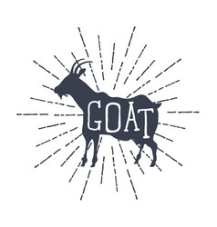 Farm animals icons silhouette of goat vector